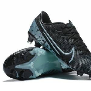 Mercurial Vapor XIII Academy FG Firm Ground Men's Black / Light Blue Soccer Shoes
