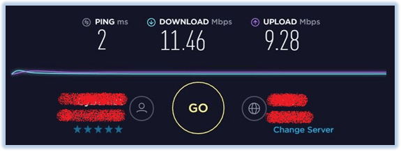 internet connection for surfshark review speed test