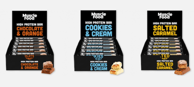 20% Off Muscle Food Protein Bar Boxes Banner