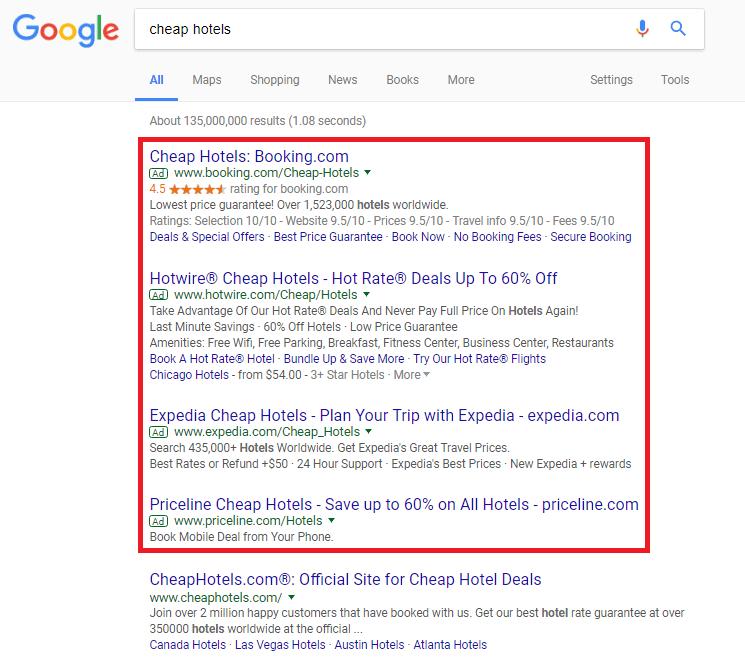 Contoh Google Adwords Search