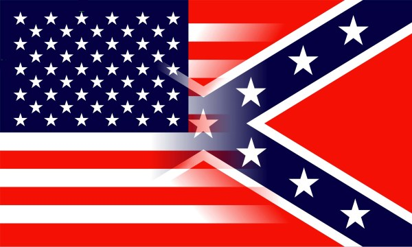 American Confederate flag mix