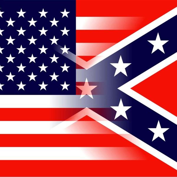 American Confederate flag mix
