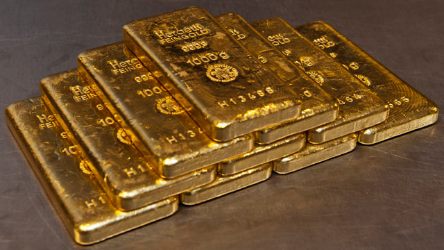 Buy physical gold bars from the bank