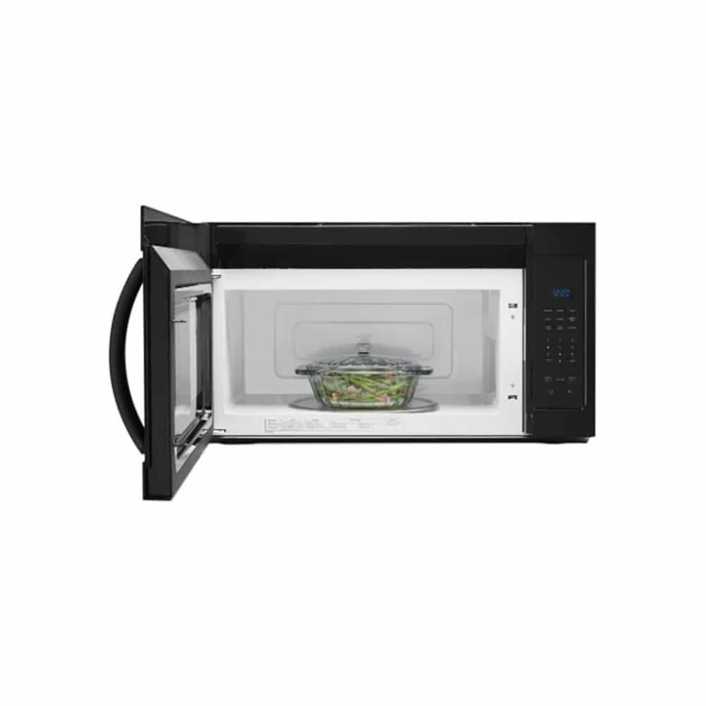 1 7 whirlpool microwave hood combo black