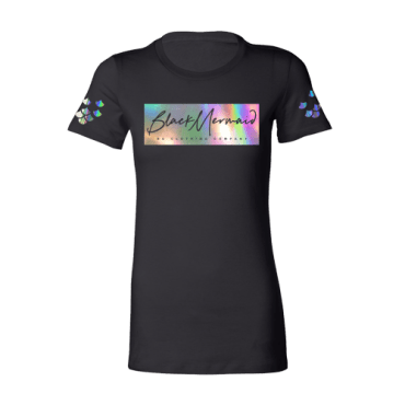 black-mermaid-tee-front