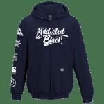 Addicted To Black Patchwork zip up