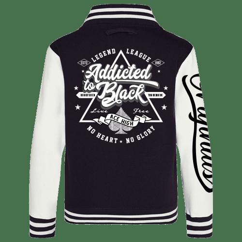 Addicted to Black Varsity Jacket