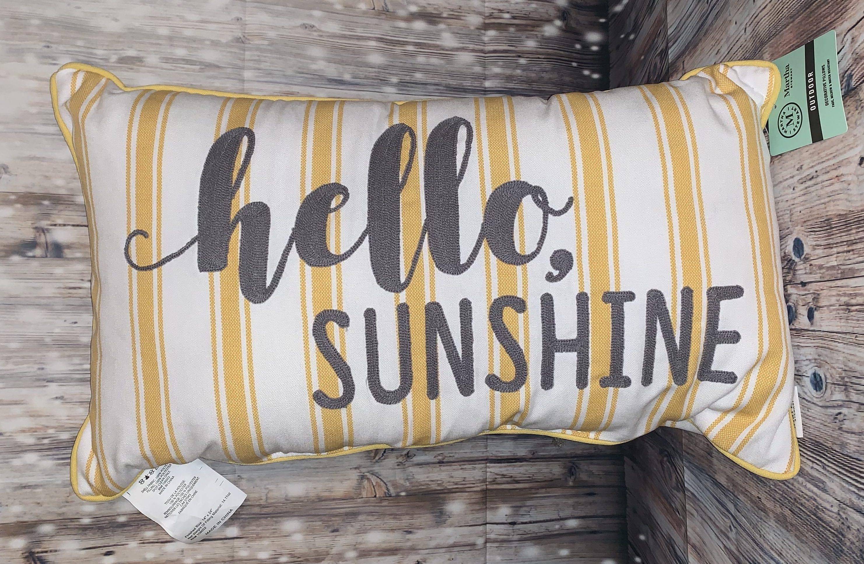 hello sunshine indoor outdoor pillow