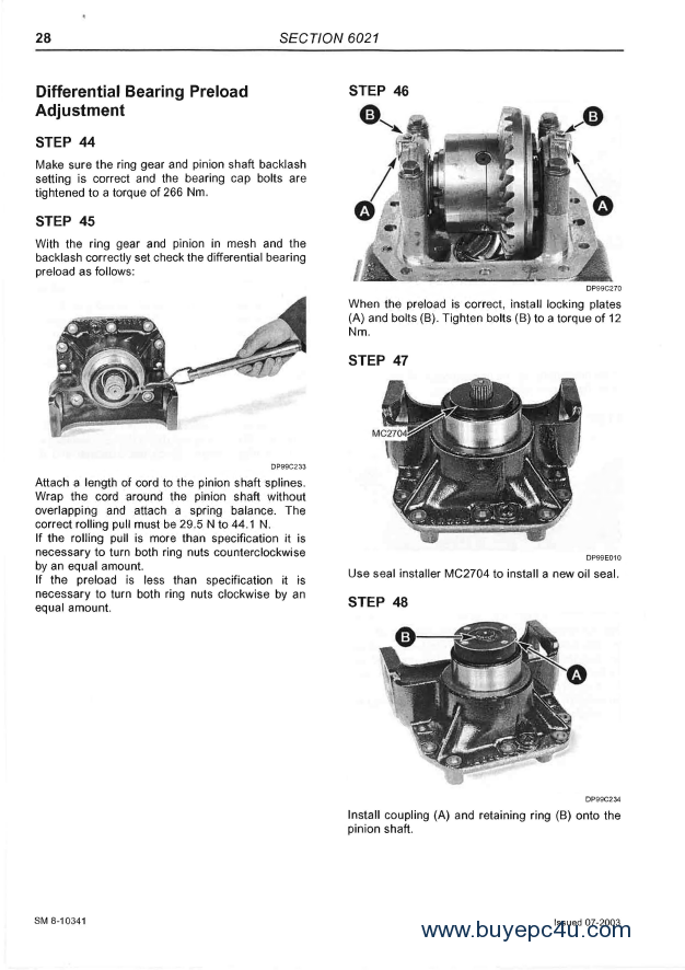 McCormick CX Series SM 8-10602 Service Manual PDF