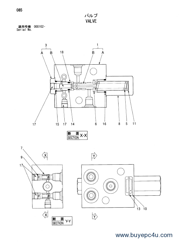 Hitachi EX1900-5 Equipment Component Parts P18C-E1-2 PDF
