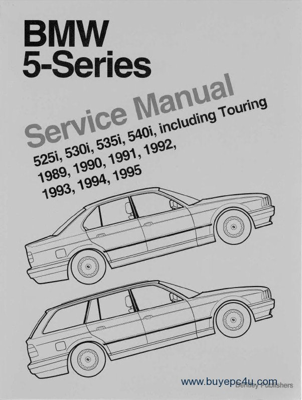 BMW 5-Series E34 PDF Manuals