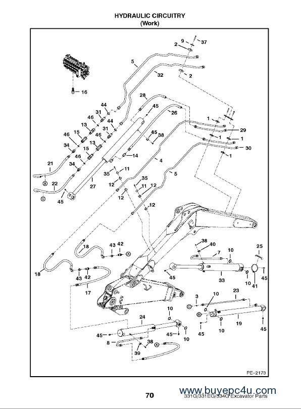 Bobcat 331 331E 334 G-Series Excavator Parts Manual PDF