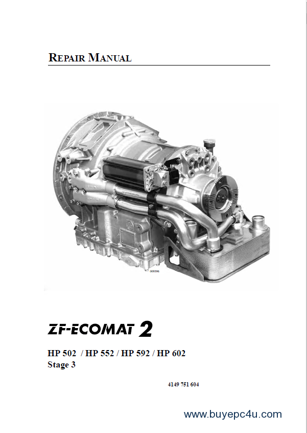 ZF-Ecomat 2 HP502 HP552 HP592 HP602 Repair Manual PDF