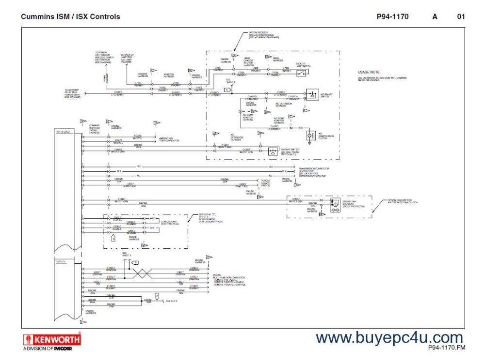 medium resolution of kenworth t660 cummins ism isx schematics manual pdf 2012 kenworth t660 headlight wiring diagram t680 kenworth wiring diagrams