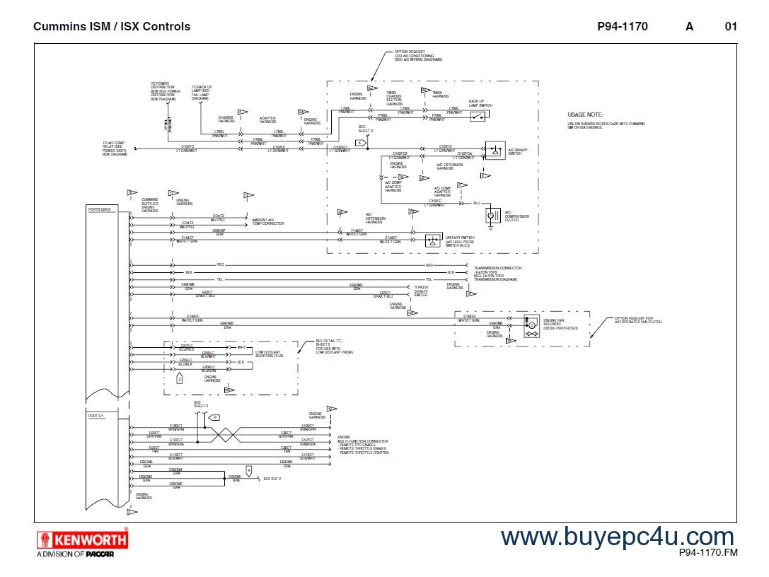 hight resolution of kenworth t660 cummins ism isx schematics manual pdf 2012 kenworth t660 headlight wiring diagram t680 kenworth wiring diagrams