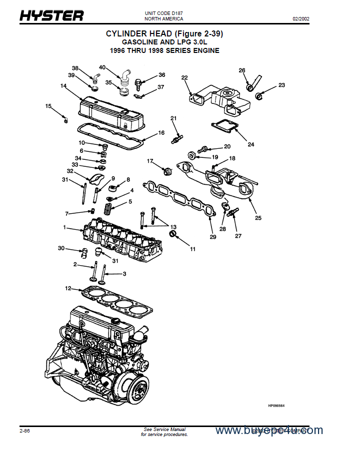 hyster 60 forklift wiring diagram atwood rv furnace parts (d187) s40xm-s65xm pdf manual