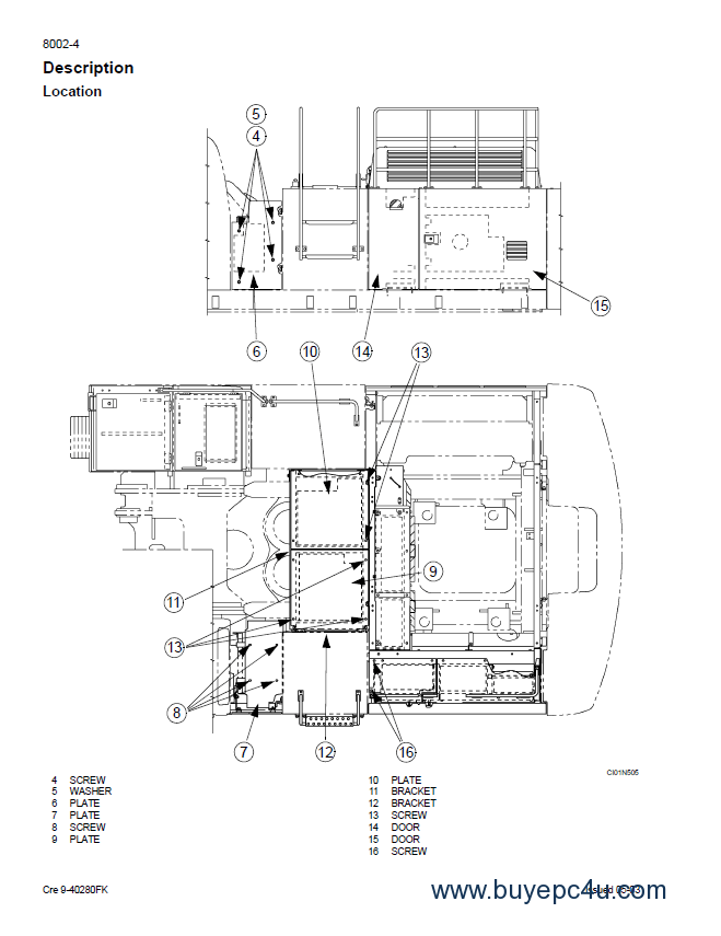 Fiat Kobelco E805 Crawler Excavator Workshop Manual PDF