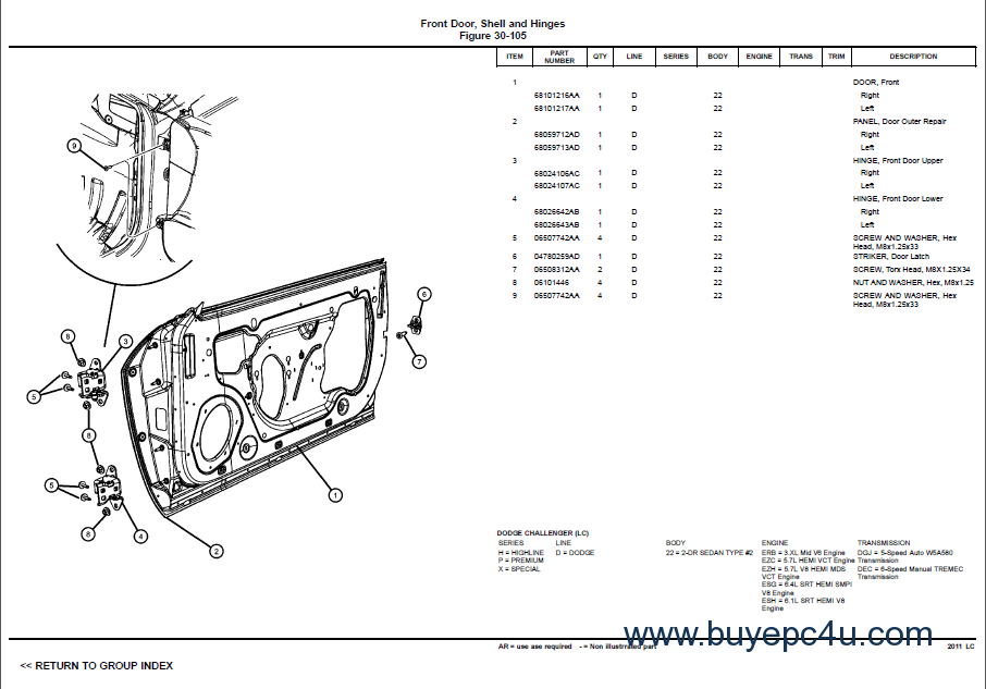 2011LC-Challenger Master Parts PDF Manual