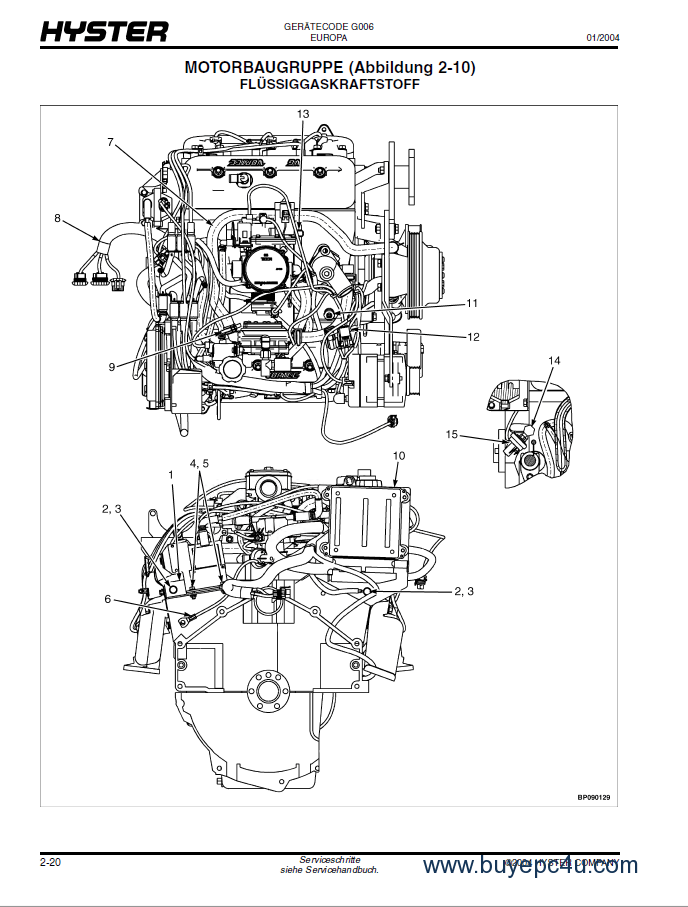 Hyster (G006) H6.00-7.00XL Forklift PDF Parts Manual