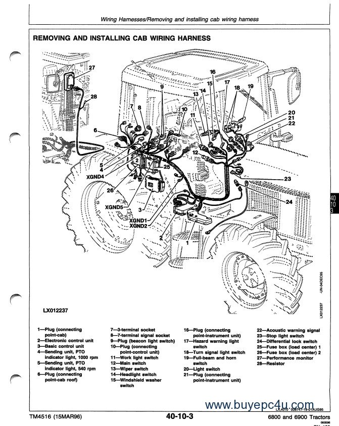 John Deere 6800 6900 Tractor Technical Manual PDF