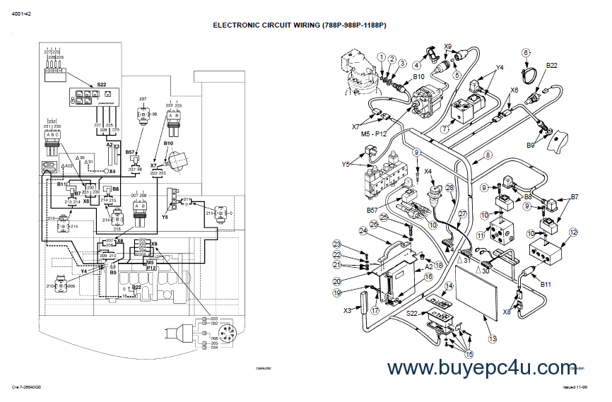 Case 788-988 Plus Hydraulics Excavators Schematic Set PDF