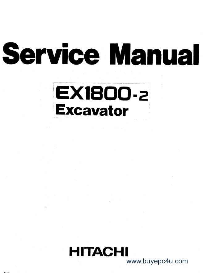 Hitachi EX1800-2 Service Manual PDF