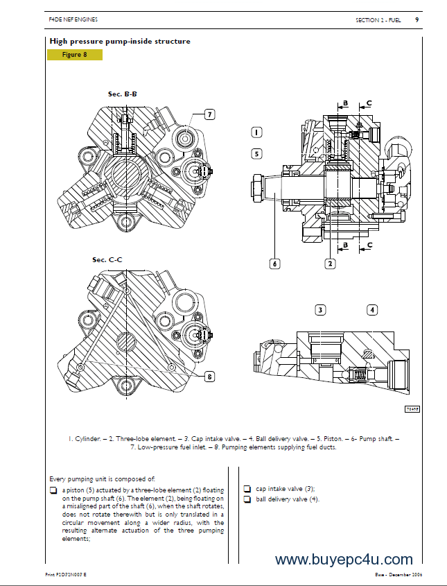 Iveco N45 N67 NEF Tier3 Series Technical Repair Manual PDF