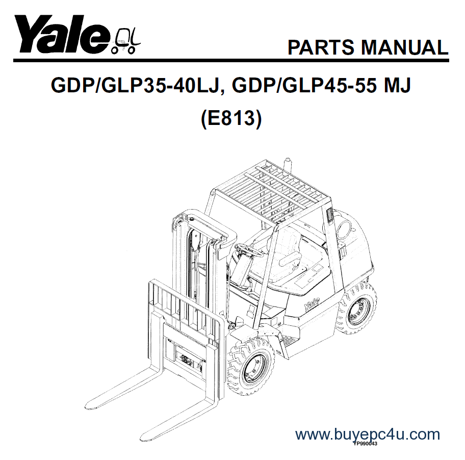 Shop now Yale Industrial Trucks for Europe Parts Manuals 2017