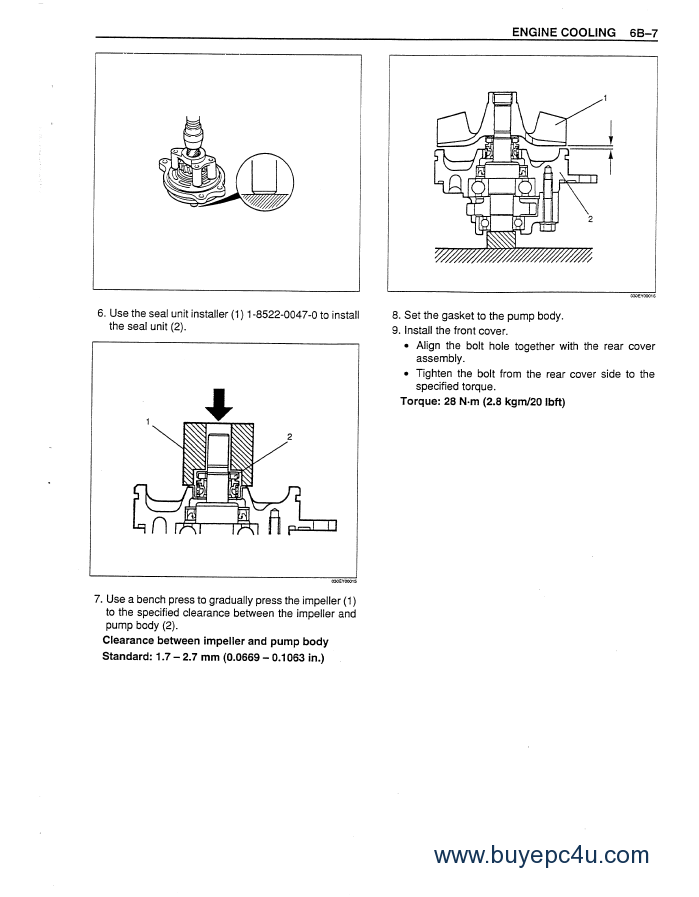 Isuzu Engines 6WG1T Service Manual PDF