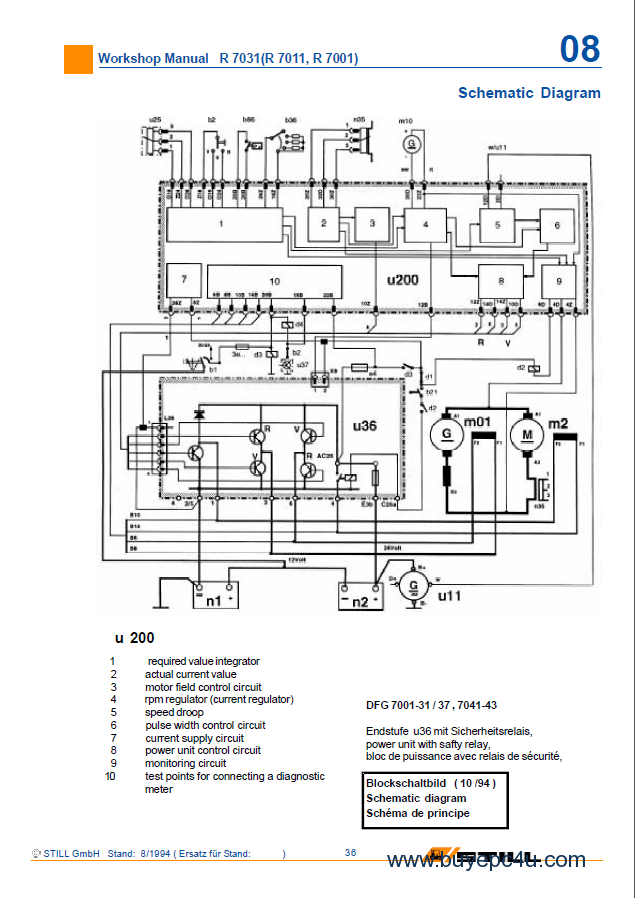 Still Forklift R70-15, R70-16 Workshop Manual PDF