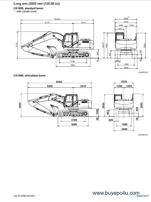 Case CX160B-CX180B Crawler Excavator Service Manual PDF