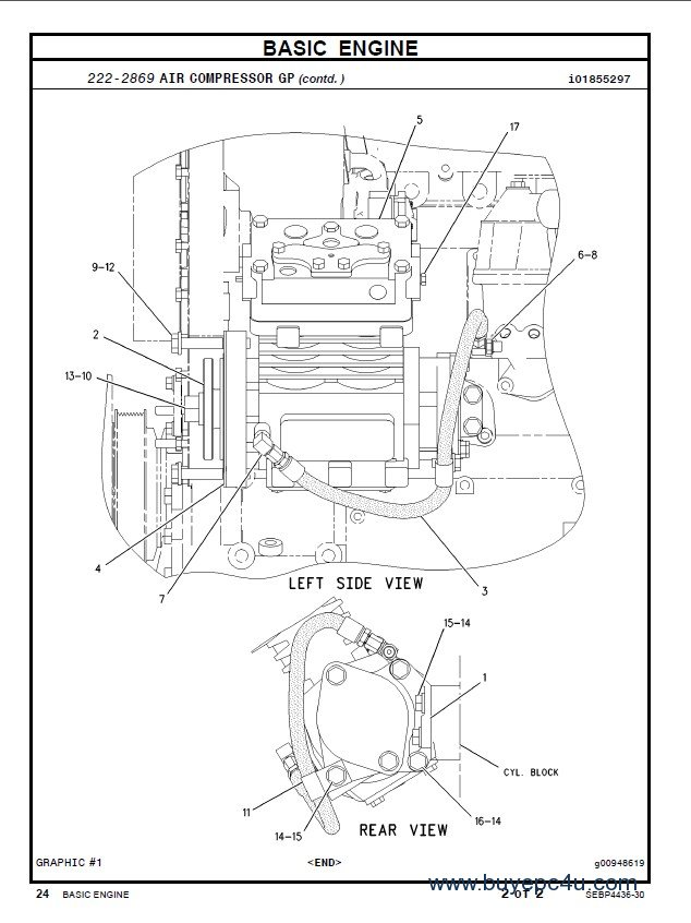 Caterpillar C7 Industrial Engine Parts Manual PDF