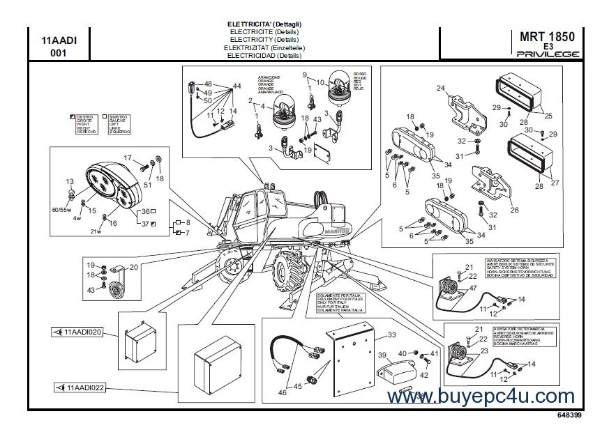 Manitou MRT Series Parts & Repair Manual PDF