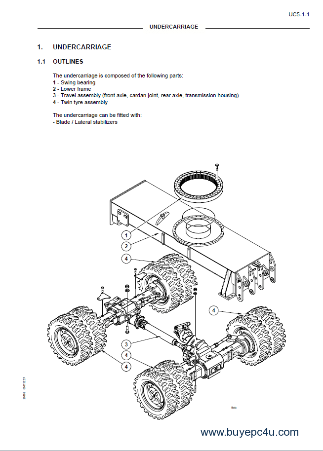 Fiat Kobelco EX95W Midi Excavator Workshop Manual PDF