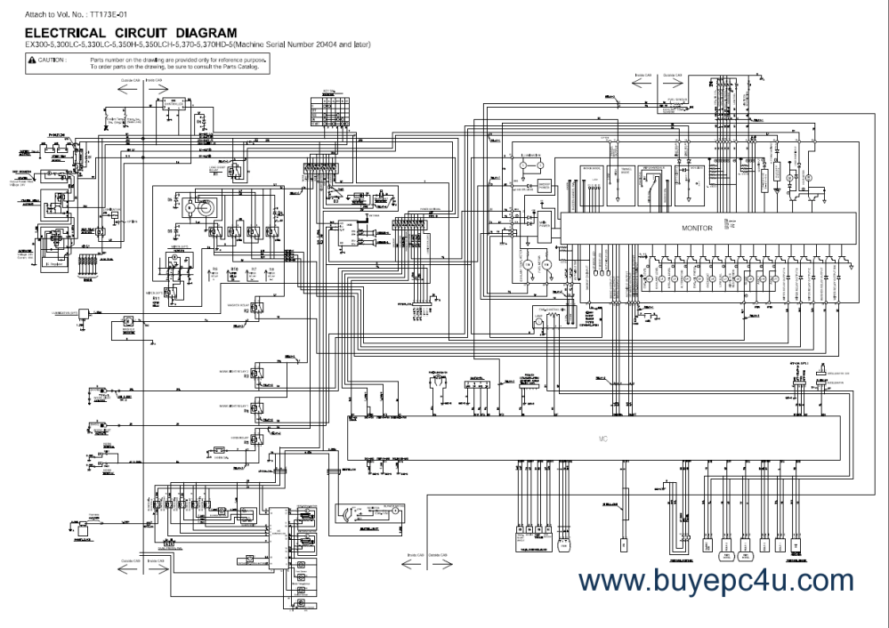 medium resolution of hitachi tractor wiring diagram wiring diagram data hitachi ex300lc manual hitachi tractor wiring diagram