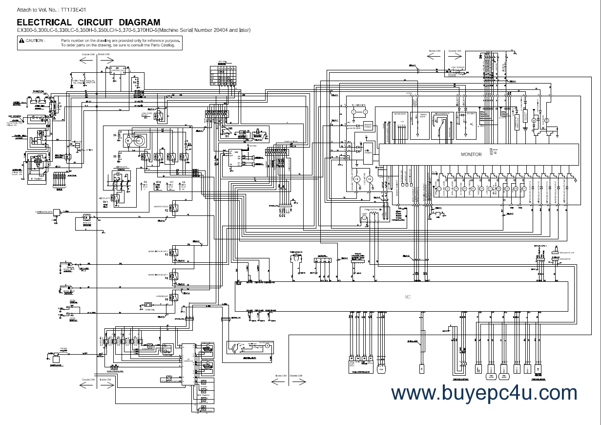 hight resolution of hitachi tractor wiring diagram wiring diagram data hitachi ex300lc manual hitachi tractor wiring diagram