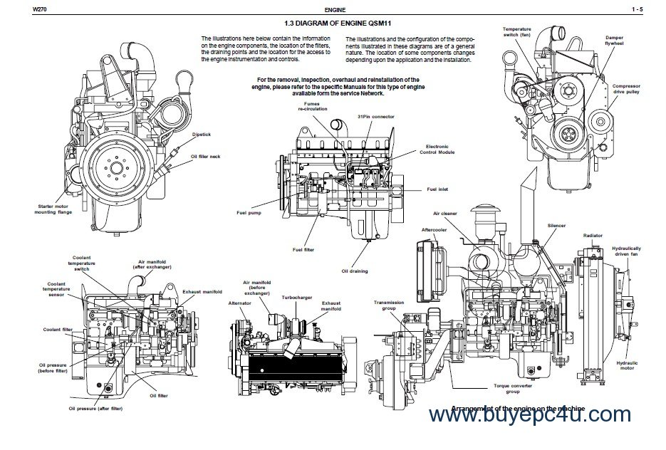 New Holland W270 Wheel Loader Workshop Manual PDF