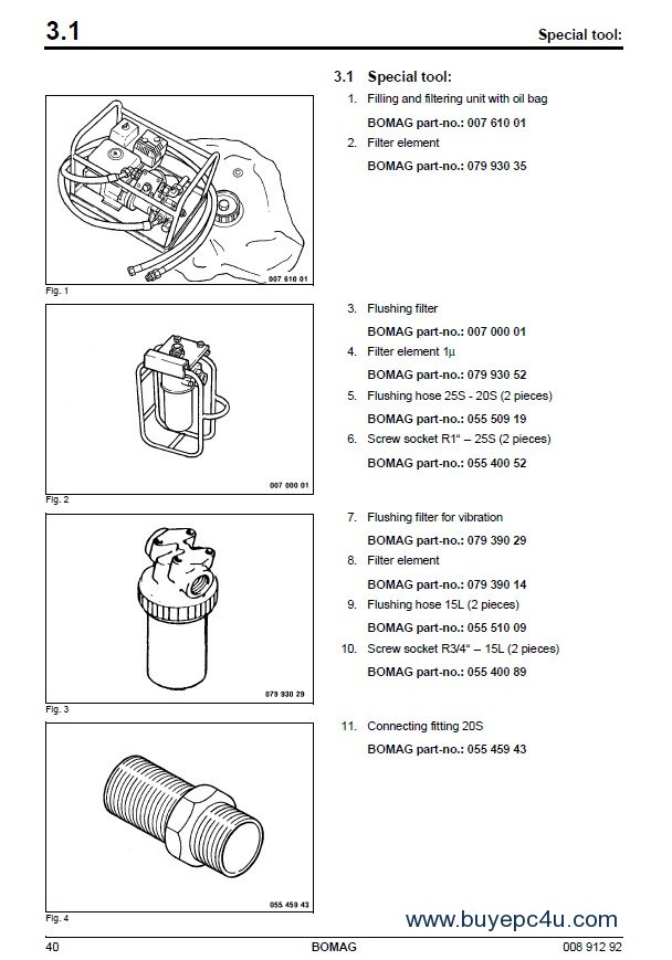 BOMAG BW 145 DH-3 / BW 145 PDH-3 Repair Manual PDF