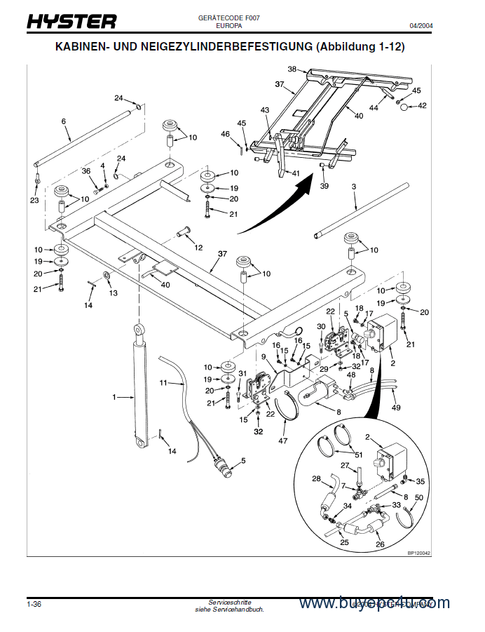 Hyster Challenger (F007) H8.00-12.00XM PDF Parts Manual