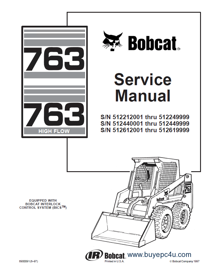 Bobcat 763 Series Skid Steer Loader PDF Service Manual
