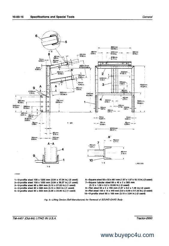 john deere 140 wiring diagram thetford c200 toilet 2950 tractor technical manual tm4407 pdf