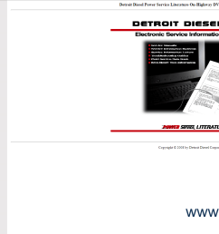 the image of detroit diesel power service literature on highway dvd program october 2008  [ 1752 x 912 Pixel ]