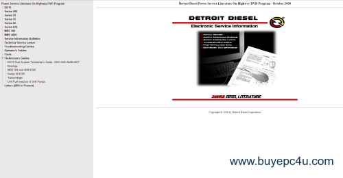 small resolution of the image of detroit diesel power service literature on highway dvd program october 2008