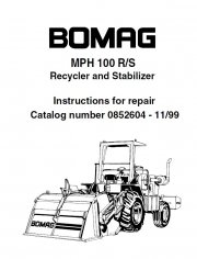Bomag MPH100R / MPH100S Recycler & Stabilizer PDF Manual