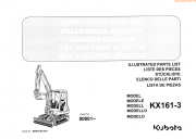 Kubota Excavator KX161-3 Illustrated PDF Parts List