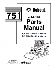 Bobcat 751 G-Series Parts Manual PDF
