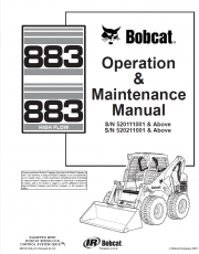 Bobcat 883/883H High Flow Operation and Maintenance Manual