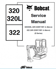 Bobcat 320 320L 322 Mini Excavator Service Manual PDF