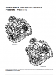 Iveco NEF Engines F4GE0454C-F4GE0484G for Fiat Kobelco