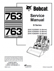 Bobcat 763, 763 High Flow G Series Service Manual PDF
